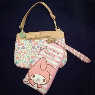 (可換物)美樂蒂🎀手提包 錢包&手機袋
