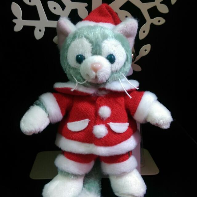 絕版迪士尼日本畫家貓。全新有牌。。2014年聖誕節系列站姿。