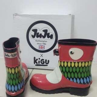 Juju X Kigu超可愛鸚鵡雨靴