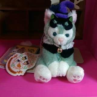 絕版迪士尼日本畫家貓。全新有牌。。2014年萬聖節系列坐姿。