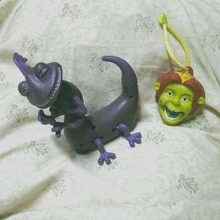 怪獸電力公司 史瑞克 費歐娜 玩具 公仔 吊飾