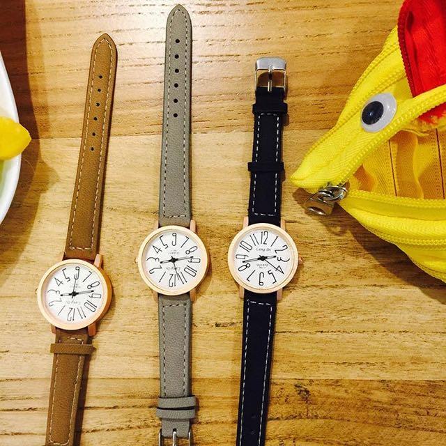 [預購]皮革情侶手錶