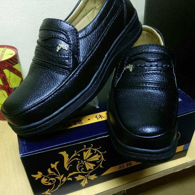 【免運】全新雙鎗真皮鞋