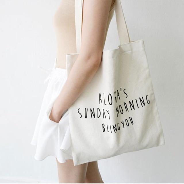 ♥快速出貨♥ 簡約字母帆布包/帆布袋/購物袋