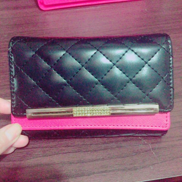 菱格紋皮夾 錢包