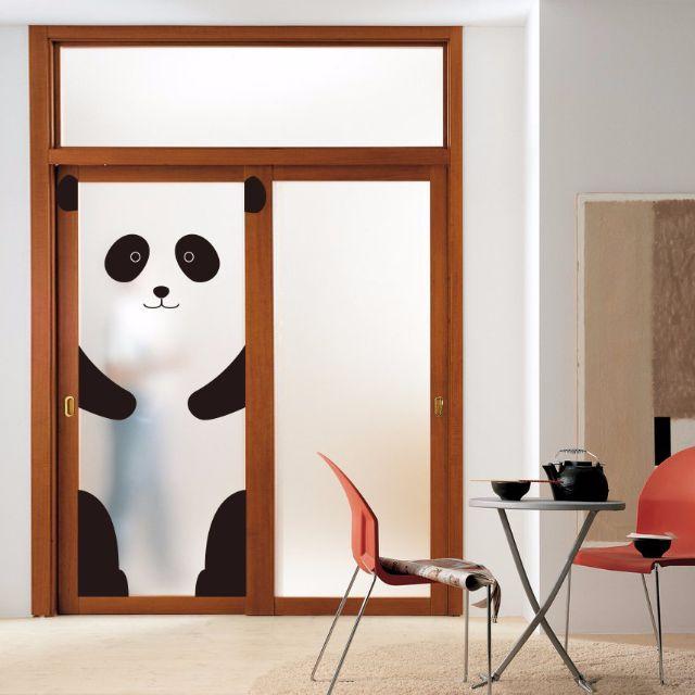 可愛門貼 - 熊貓