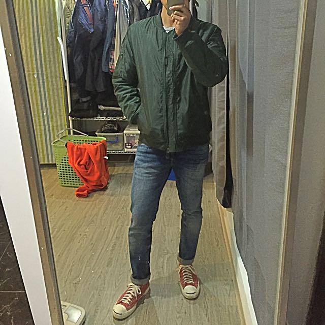 飛行夾克 外套 (軍綠)