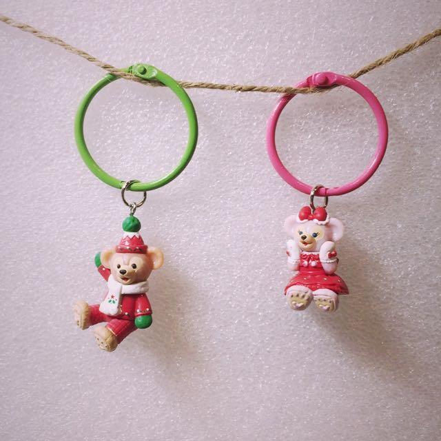 聖誕 達菲雪莉玫 鑰匙圈 duffy 不分售