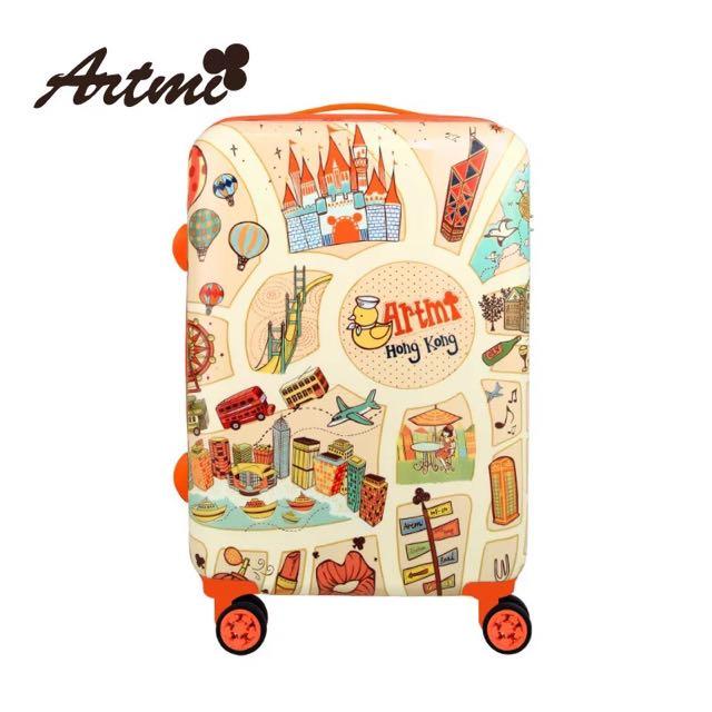 Artmi2016新品 可愛旅行箱行李箱商務24吋靜音萬向輪時尚