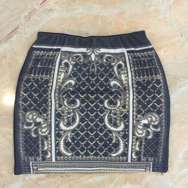 Baroque Mini Skirt