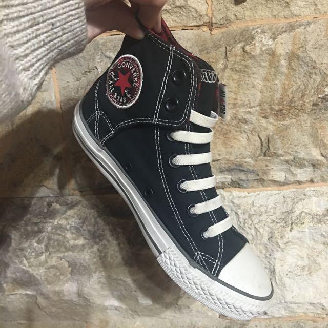 ‼️降價免運優惠中‼️原價$1780 Converse 黑色高筒帆布鞋 (免綁鞋帶)