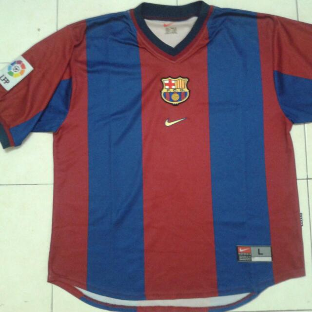 premium selection bc2e2 b417e FC Barcelona Jersey 1998-99 (L)
