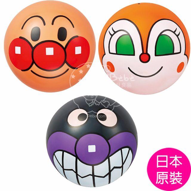 iBebe*現貨$250 麵包超人/細菌人/小病毒(紅精靈) 3號彈跳球/彈力球(三入裝)ANPANMAN/日本進口