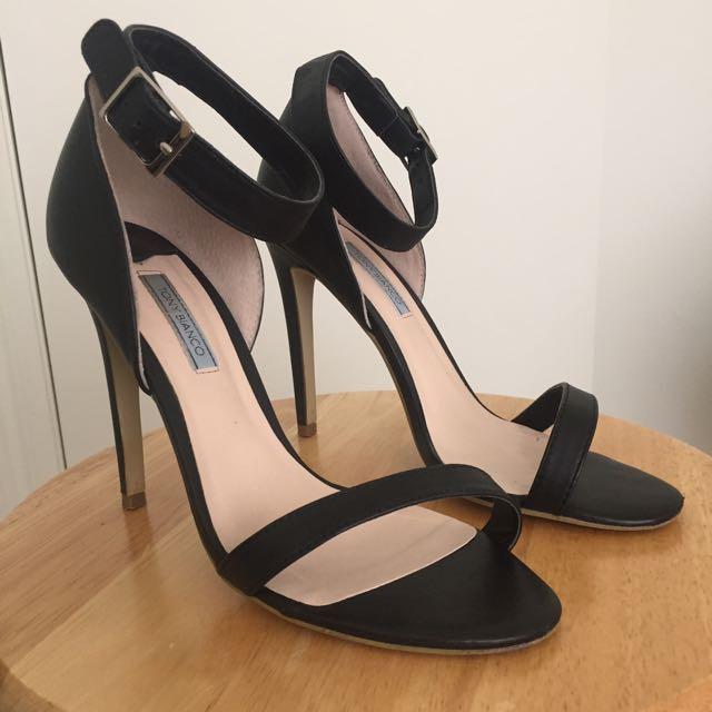 TONY BIANCO Black Strappy Heels - Size 8.5
