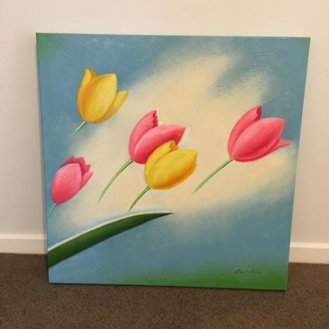 Tulip Canvas Painting