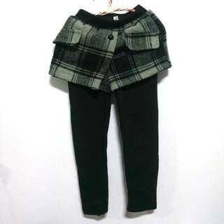 女童厚鋪毛假兩件長褲