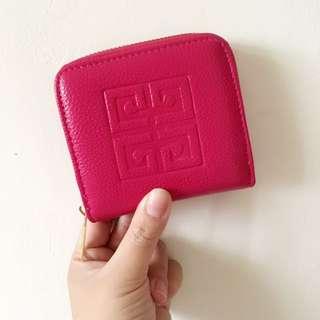 全新現貨🍓韓版 短夾 零錢包 錢包 (桃紅)👛