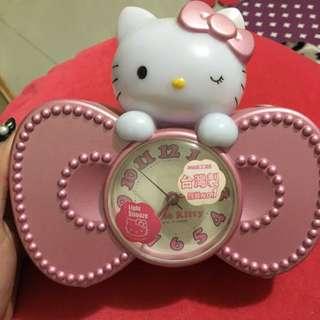 二手-正版KITTY 貓鬧鐘