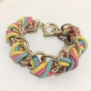 Rainbow Chain Bracelet