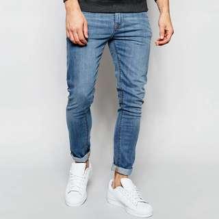 ASOS super skinny jeans In Light Wash