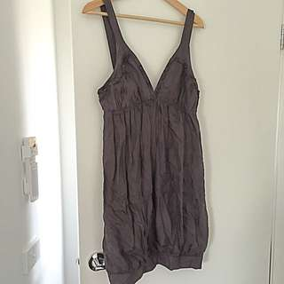 Dark Purple/grey ZAYT Silk Dress Size 12