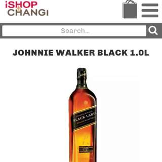 WTS Johnnie Walker Black Label 1 Litre (Hard Liquor not Vodka)