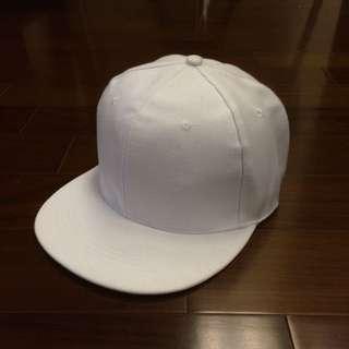 棒球帽 素色 白色