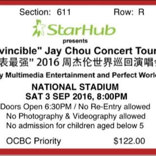1pair of Cat 6 Jay Chou Concert Tickets