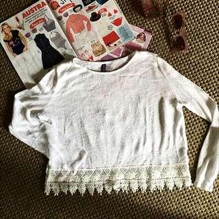 H&m White Tshirt