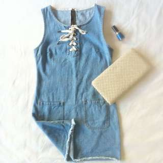 Denim Twiggy-style Dress PENDING