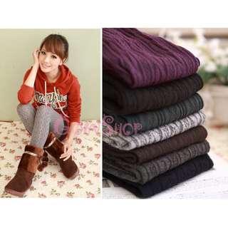 🚚 羅紋交叉排列 甜美系百搭連身保暖褲襪