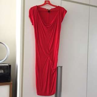 Pre-loved MANGO Red Ruby Dress (XS)