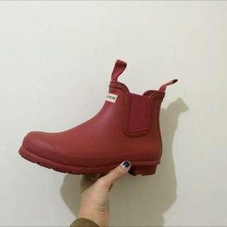 Hunter短靴/紅色uk5/23.5-24cm