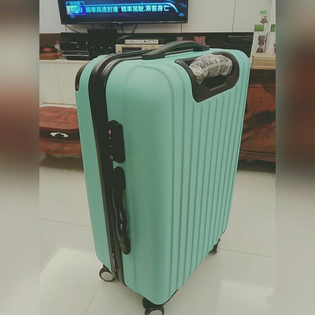全新❤20吋 可愛藍綠色 行李箱
