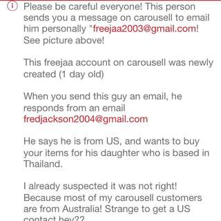 Beware Of This Scammer!