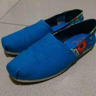 BOBS 懶人鞋 藍 花花