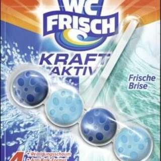 (現貨剩10組)德國Wc-Frisch馬桶強力清潔劑/潔廁球 味道隨機~