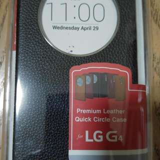 LG G4 Premium Black Leather Case