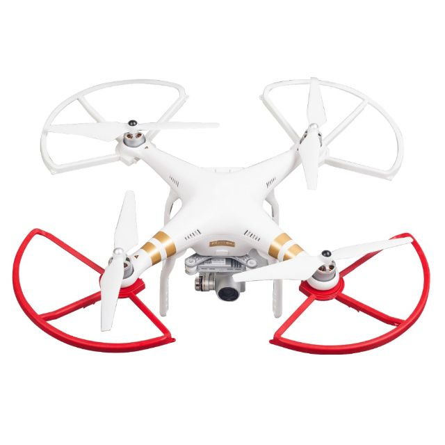 4 Quick Release DJI Phantom 3 Propeller Props Guard Bumper Protector With Adapter Snap On/Off, Electronics on Carousell
