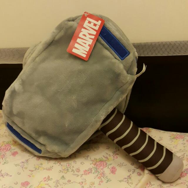 雷神索爾槌子造型抱枕被子毛毯