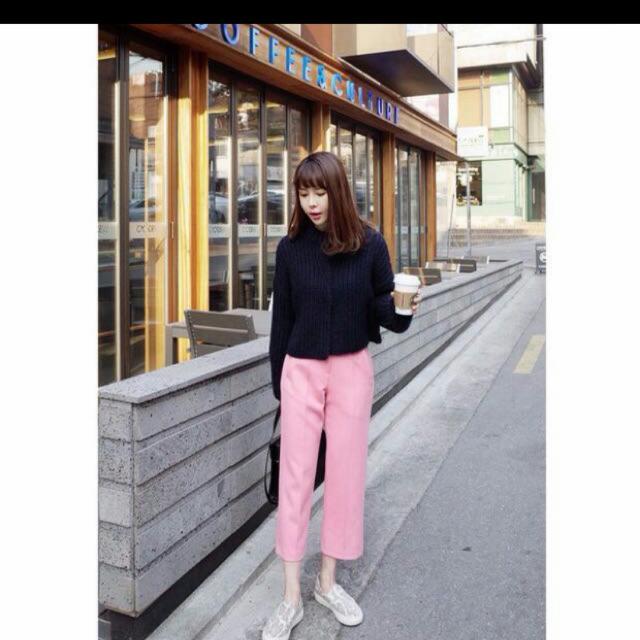 粉紅西裝寬褲