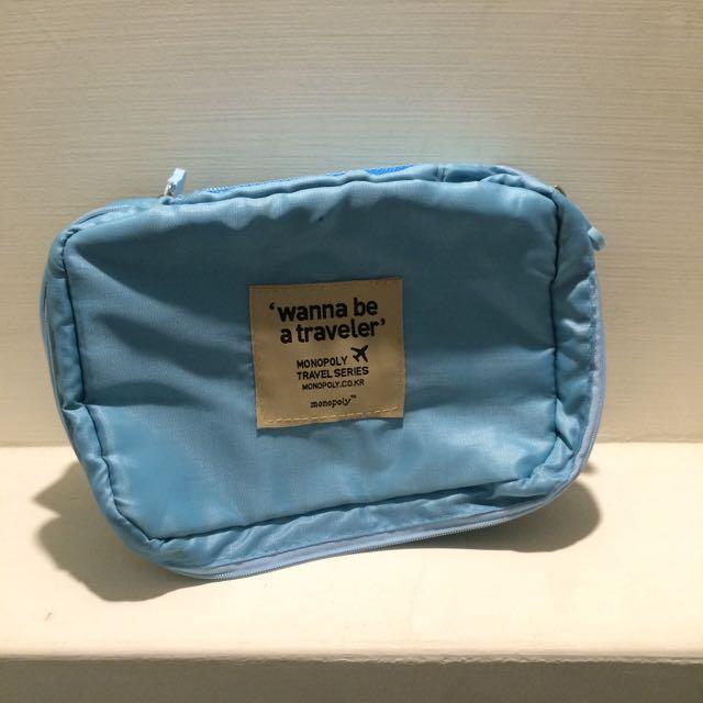 盥洗包/化妝包💕淺藍含運