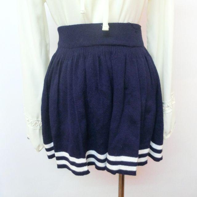 針織深藍短裙