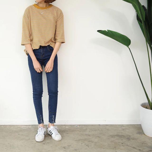 [預購]顯瘦高腰牛仔褲