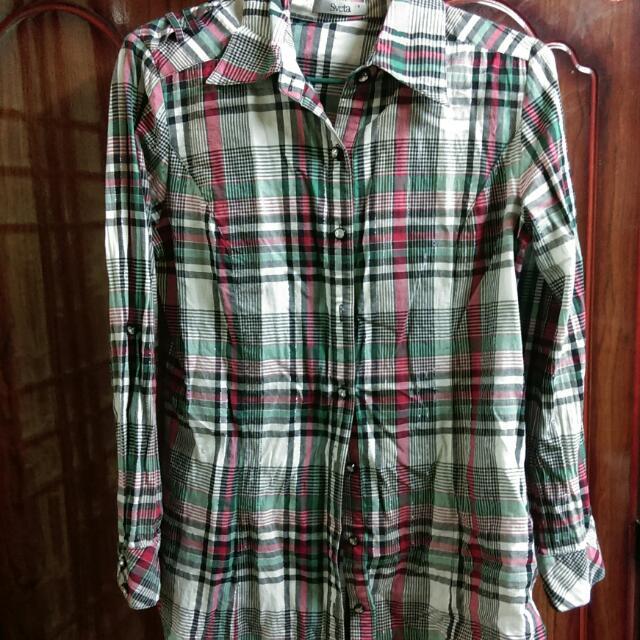 中長版襯衫