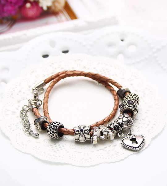 和平之戀 串珠皮革手環