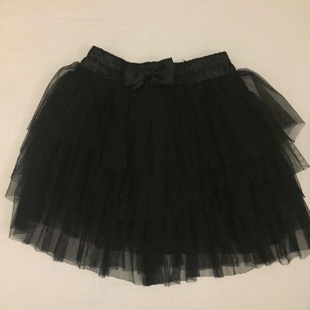 二手 黑色 蝴蝶結 蛋糕裙 短紗裙