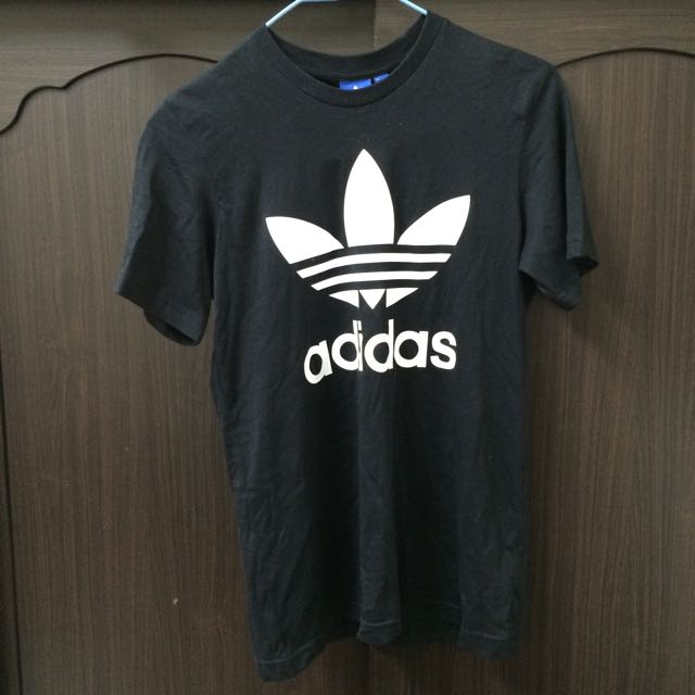 正品adidas Logo黑色上衣(XS)/全新/免運