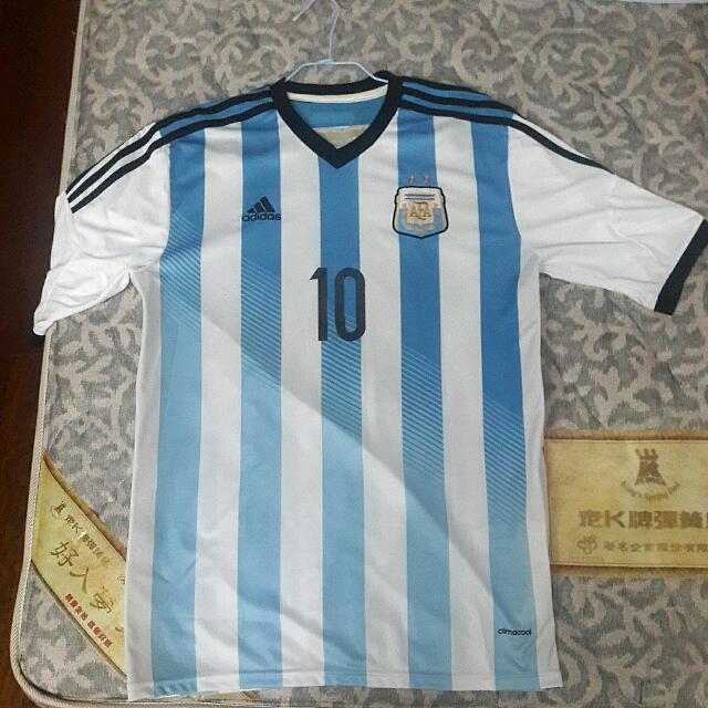 正版adidas阿根廷國家隊世足賽Messi球衣
