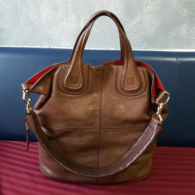 Auth Large Givenchy Nightingale Hobo Vertical Shopping Tote 2 Way Bag With  Ghw N Detachable Shoulder Sling 38de434783155